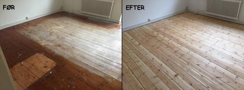 En gulvafslibning giver hjemmet et nyt look