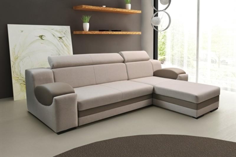 Smart sovesofa med chaiselong med god plads til overnattende gæster